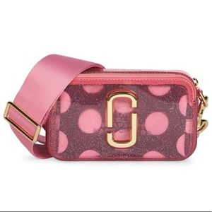 Marc Jacobs Snapshot Glitter Leather Camera Bag